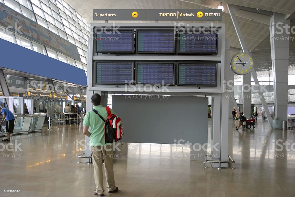 Departure Airport Timetable royalty-free stock photo