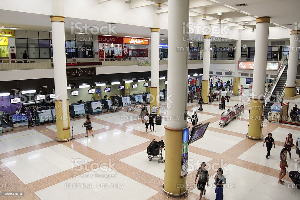Departure area of Phuket International Airport royalty-free stock photo