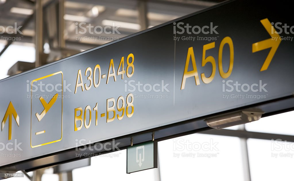 Departure at gate 50 stock photo