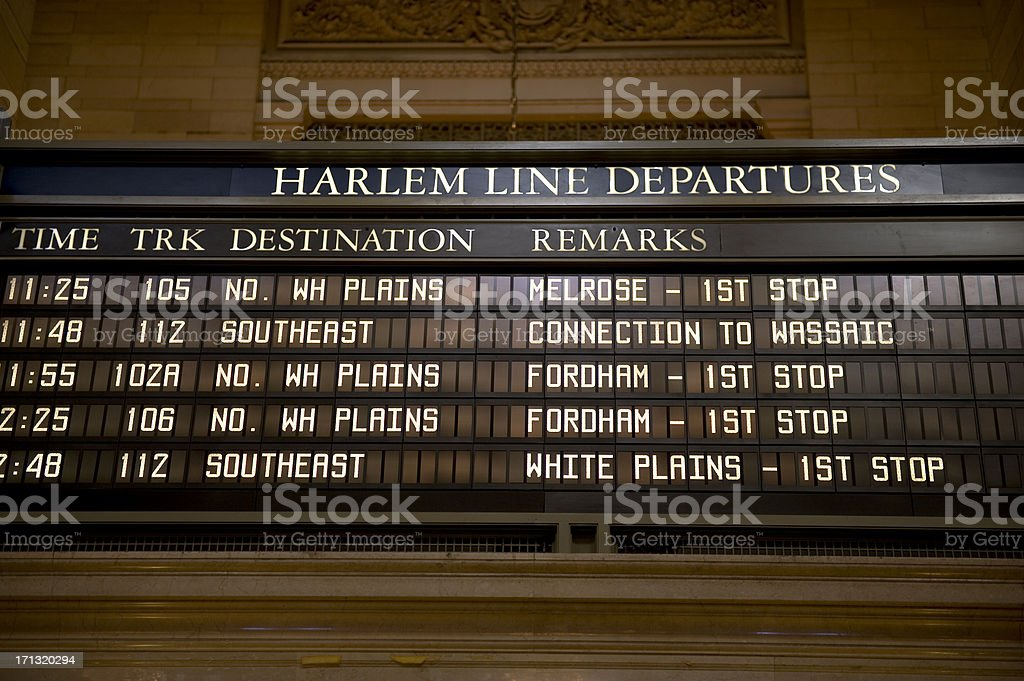 Departure board royalty-free stock photo