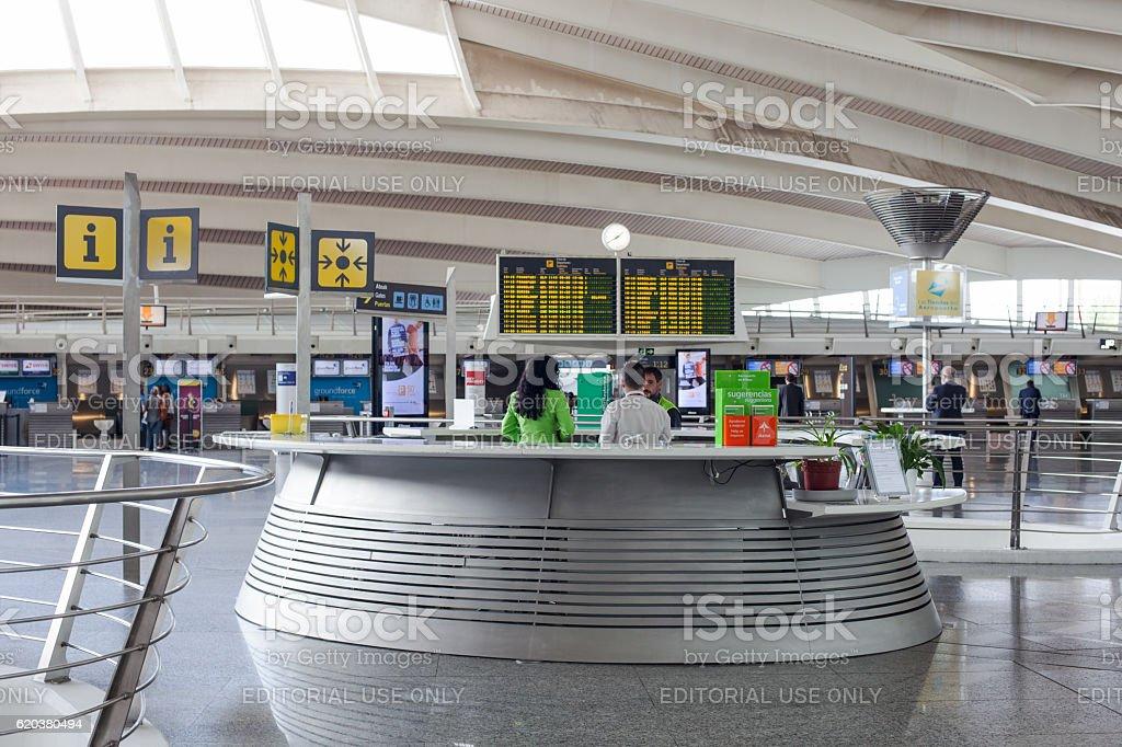 Departure lounge in Bilbao Airport zbiór zdjęć royalty-free