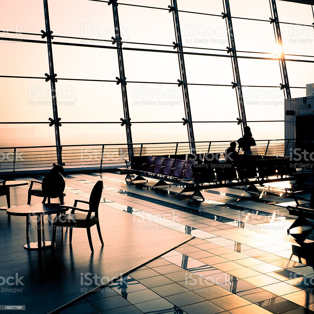 Departure lounge in the airport royalty-free stock photo
