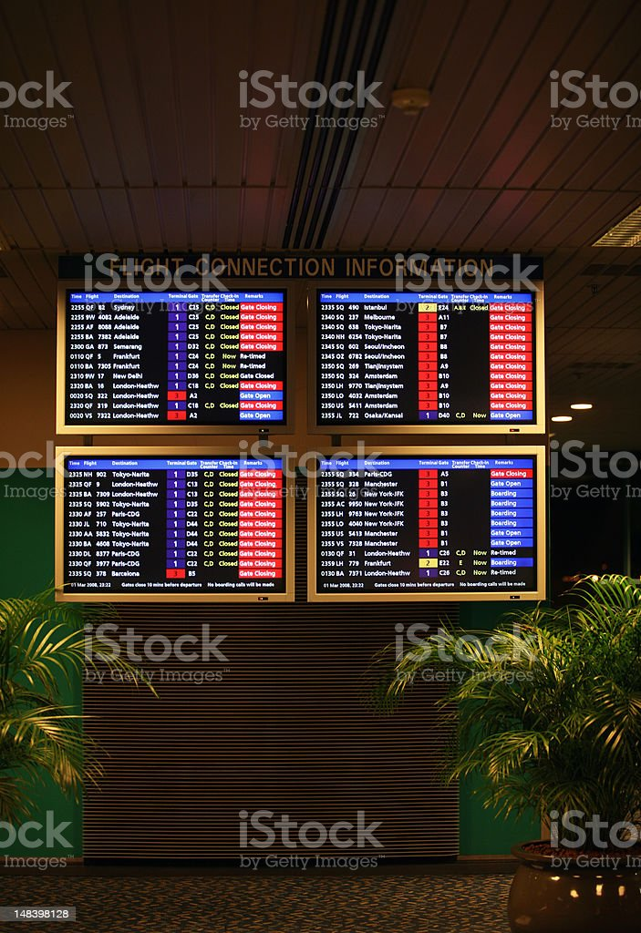Departure on a screen royalty-free stock photo