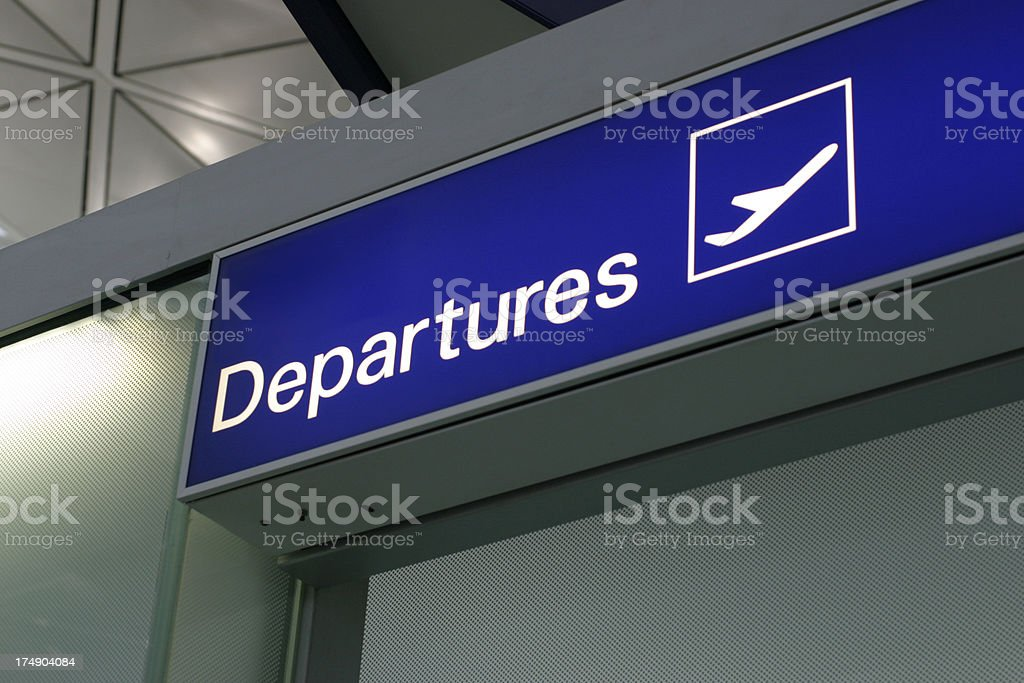 Departure stock photo