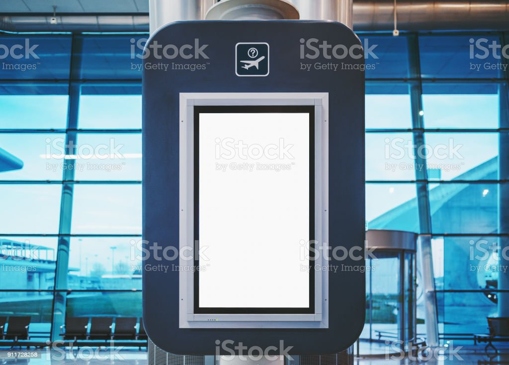 Maquette d'écran de départ dans le terminal de l'aéroport - Photo