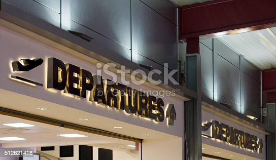 TV departure screens at Luton Airport