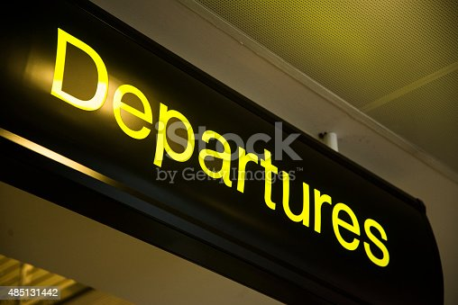 469824732istockphoto Departure sign 485131442