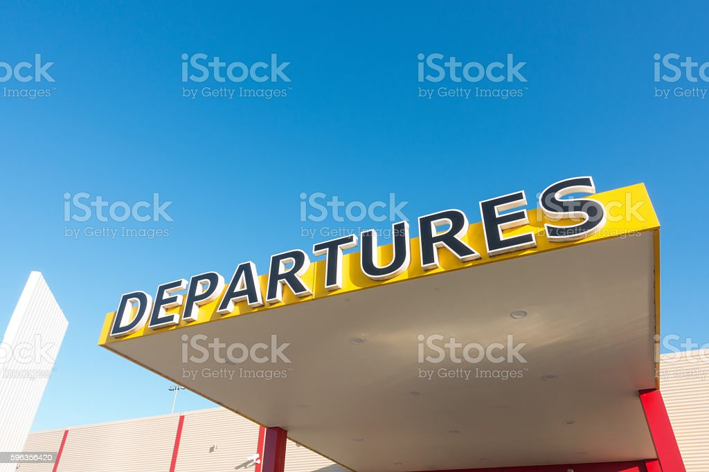 departure sign royalty-free stock photo