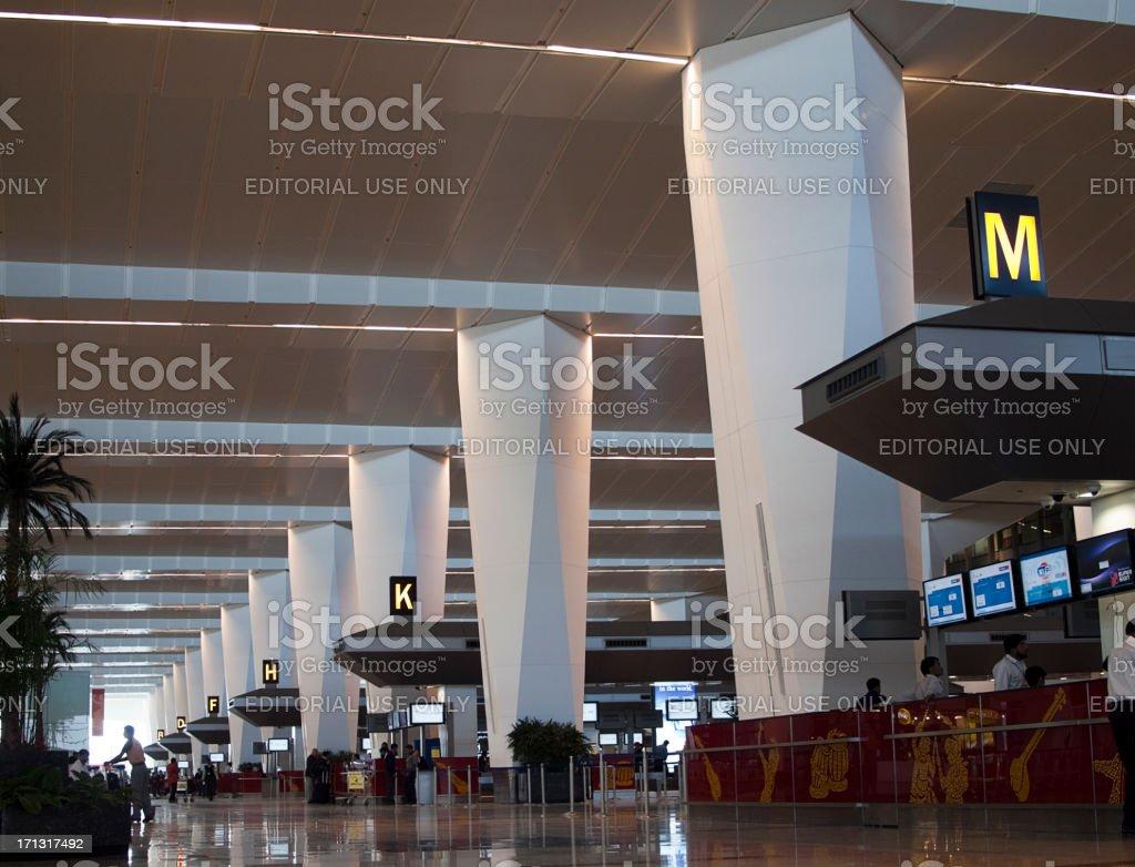 Departure Terminal, New Delhi Airport, India royalty-free stock photo