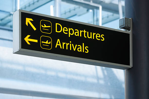 departures and arrivals - arrival stock photos and pictures