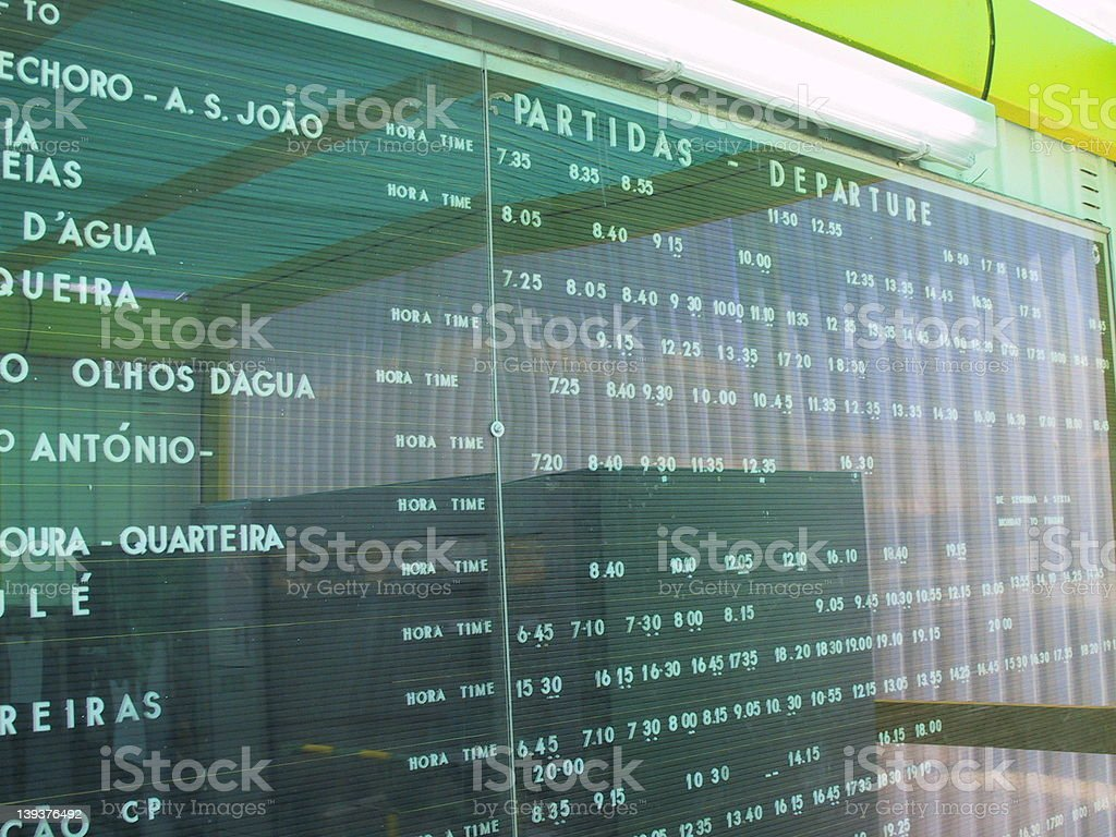 Departures Arrivals royalty-free stock photo