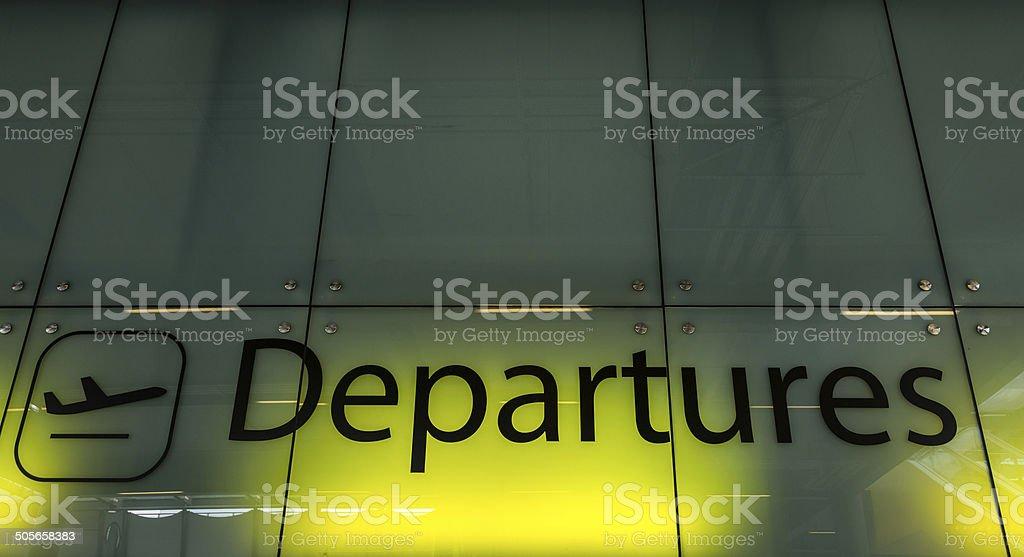 Departures stock photo