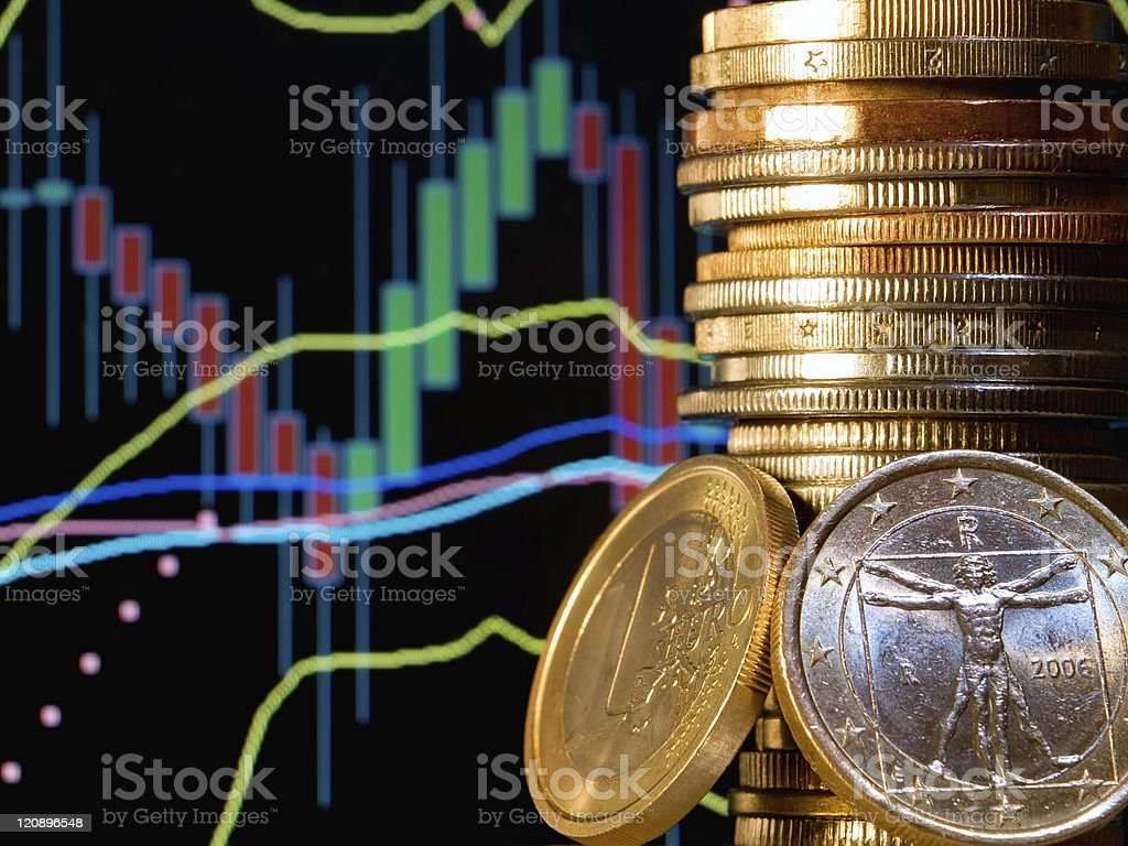 Depiction of the foreign exchange market royalty-free stock photo