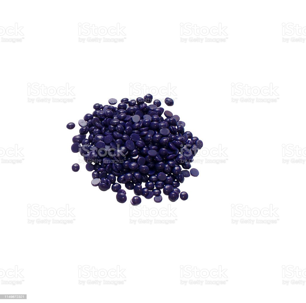 Depilatory Hard Wax Beans Isolated On White Background Pearly Wax Granules From Lavender Stock Photo Download Image Now Istock
