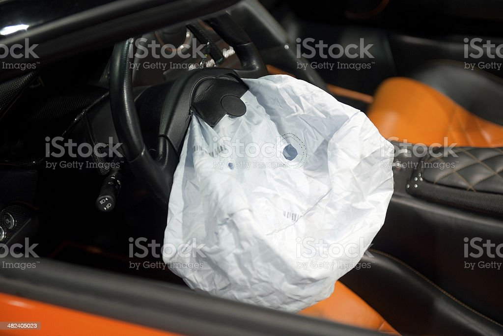 Deployed AirBags. stock photo