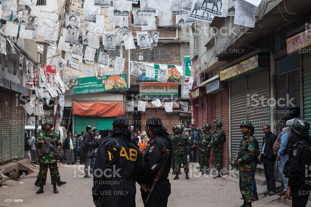 RAB deployed in Dhaka stock photo
