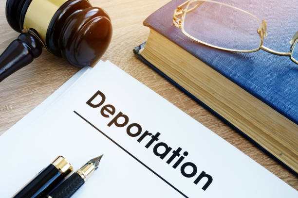 Deportation and other documents on a desk. Deportation and other documents on a desk. deportation stock pictures, royalty-free photos & images