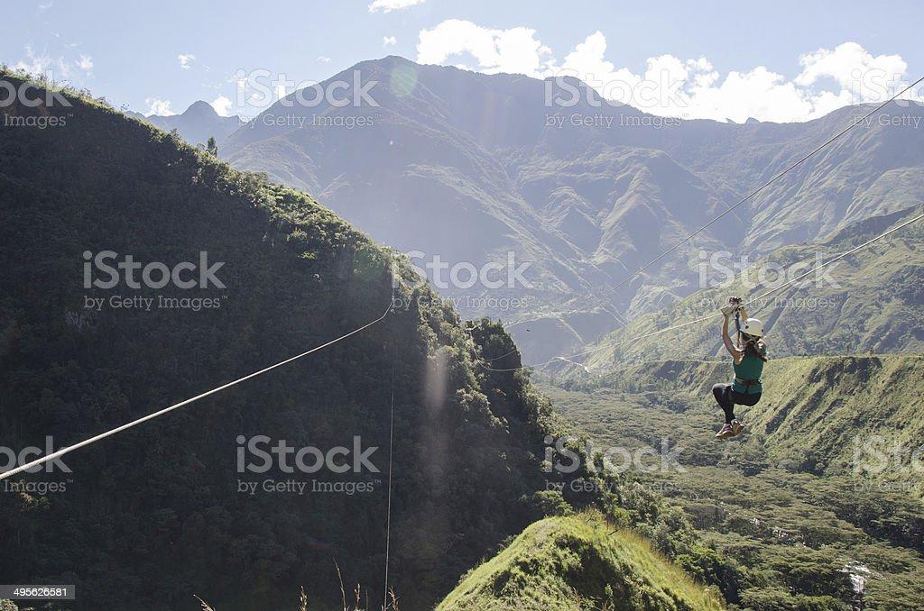 Deportes extremos en Cuzco, Peru stock photo