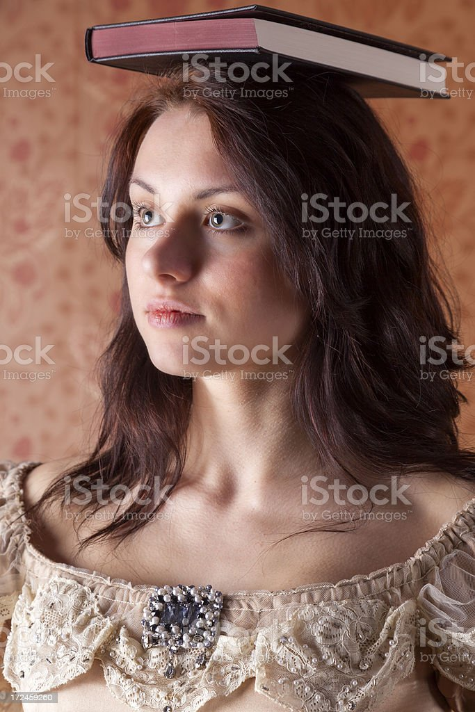 Deportment - Victorian Style royalty-free stock photo