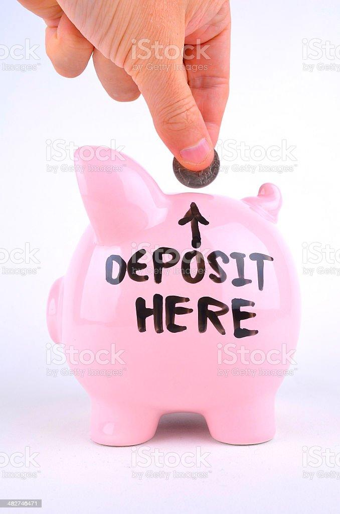 Deposit Here royalty-free stock photo