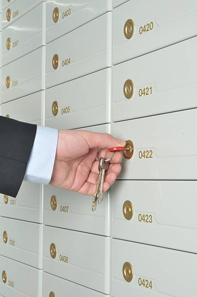 deposit safe bank - depositor stock pictures, royalty-free photos & images