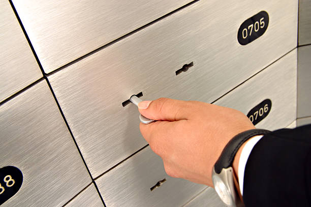 deposit safe box - depositor stock pictures, royalty-free photos & images