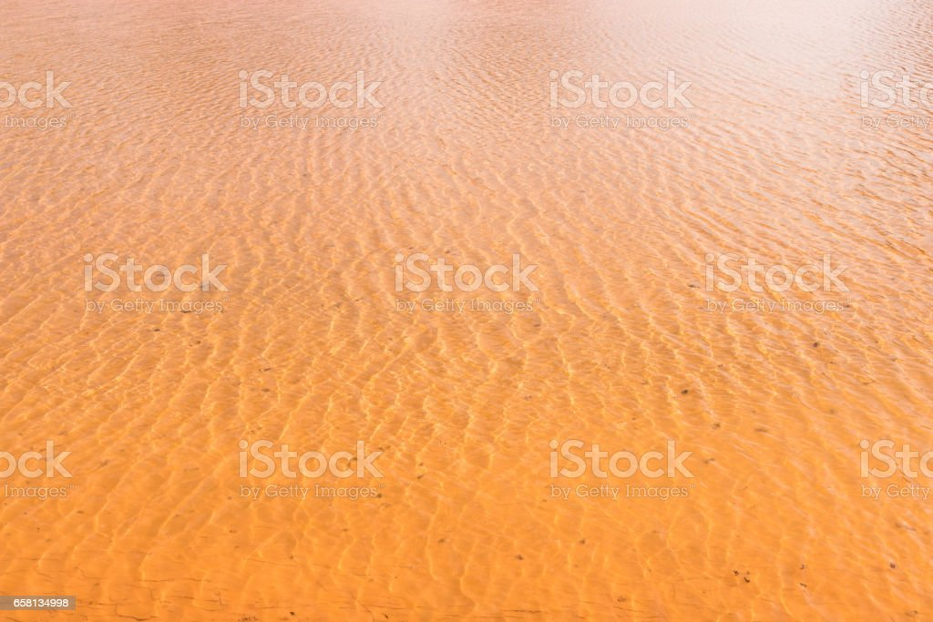 deposited silt under clean water royalty-free stock photo