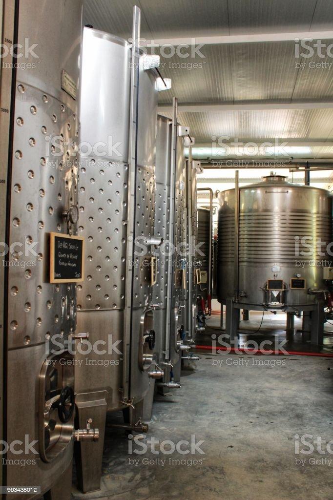 Deposits for fermentation and wine making in Azeitao, Portugal - Zbiór zdjęć royalty-free (Alkohol - napój)