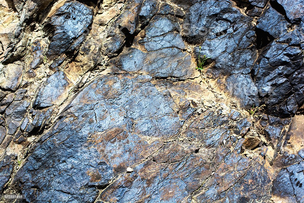 Deposits of ore stock photo