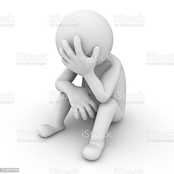 Depressed 3d man sitting on white picture id513231275?b=1&k=6&m=513231275&s=612x612&h=e7zkdxj7ghmr9ofthkxt16ovap4ks bzxiz1fqldq7m=