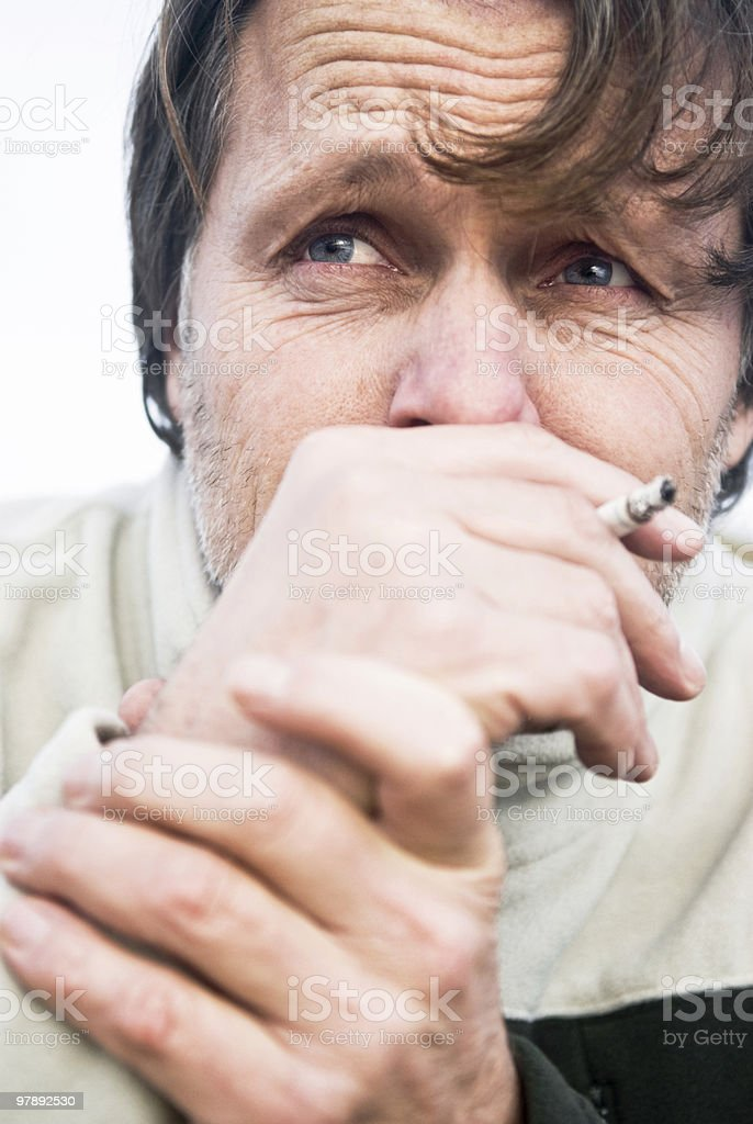 depressed addicted man royalty-free stock photo