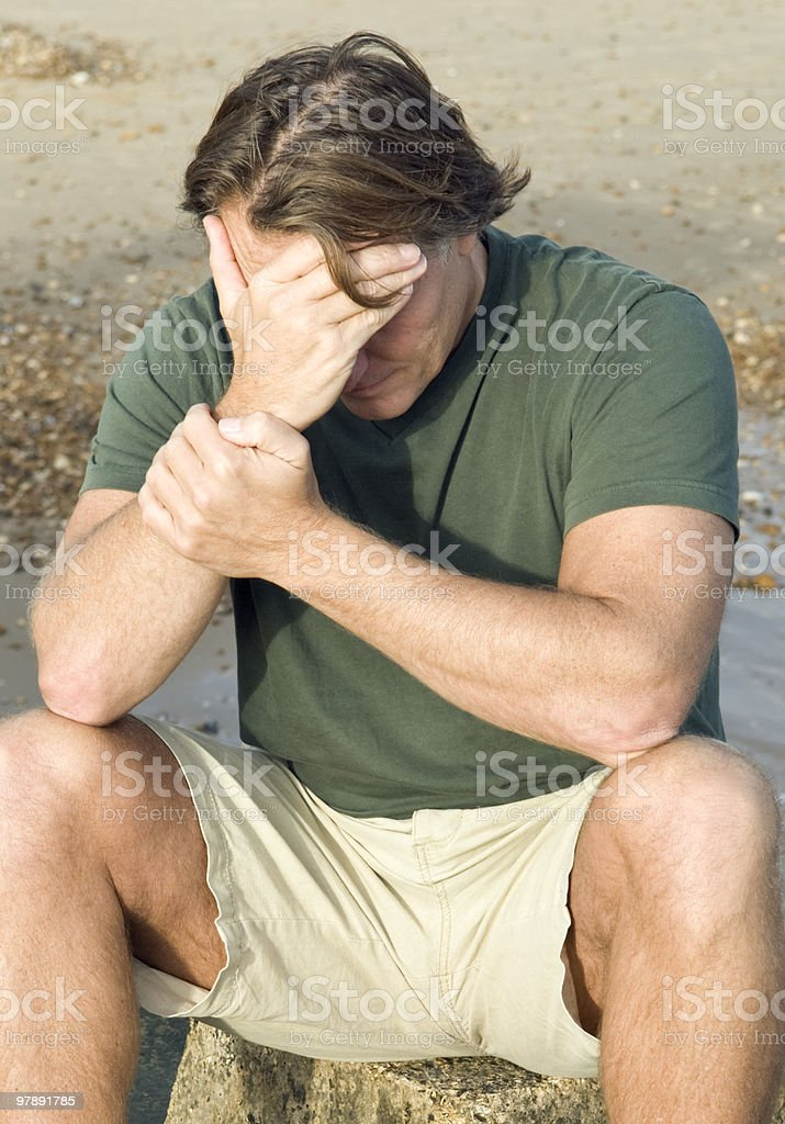 depressed and upset man royalty-free stock photo