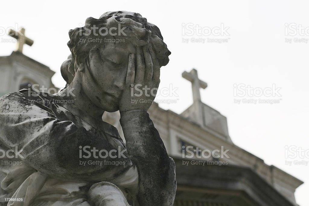 Depressed Angel royalty-free stock photo