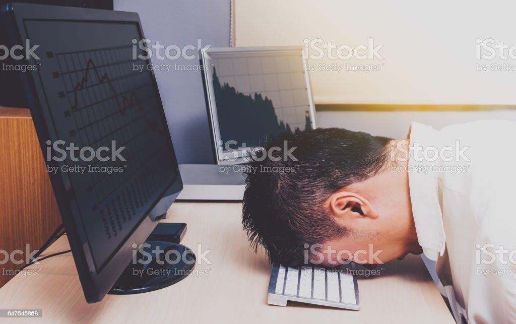 depressed asian businessman stock photo