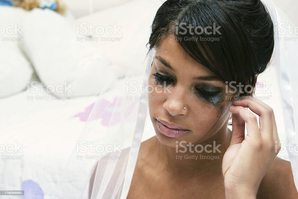 Depressed Bride royalty-free stock photo