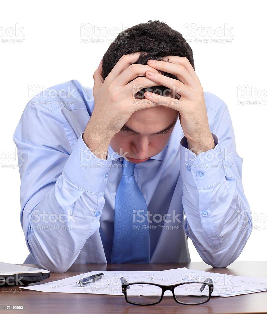 Depressed Business Man royalty-free stock photo