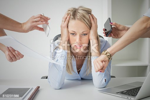 istock Depressed business woman 510231586