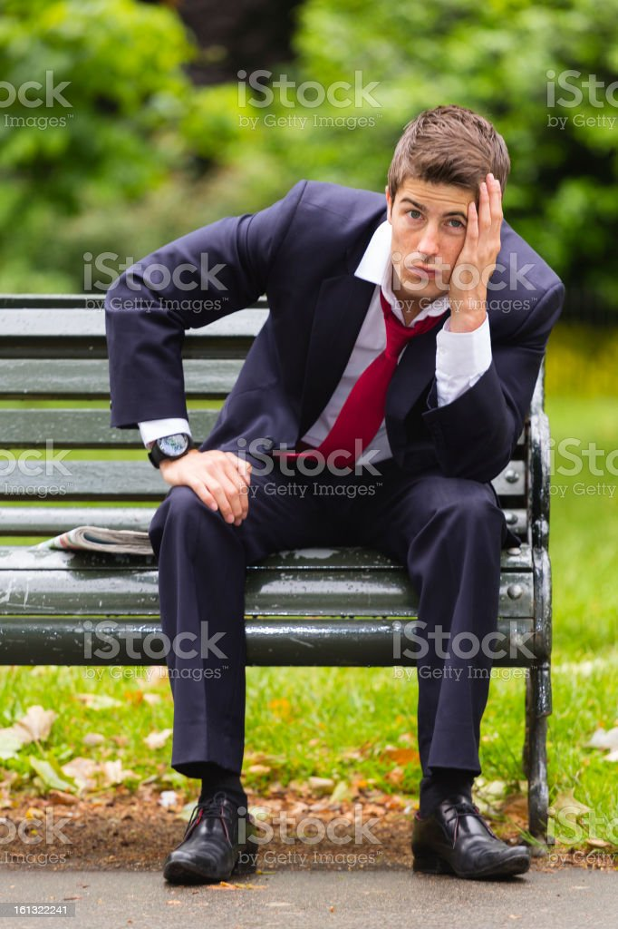 Depressed Businessman royalty-free stock photo