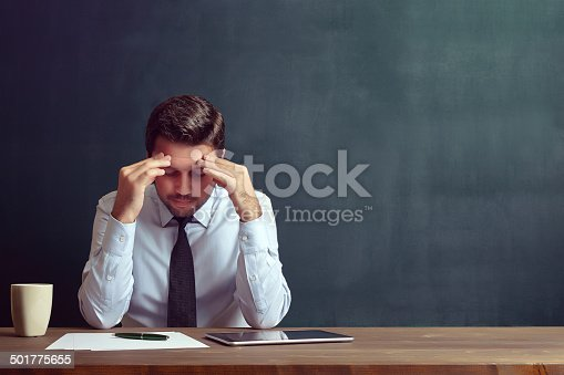 istock Depressed businessman 501775655