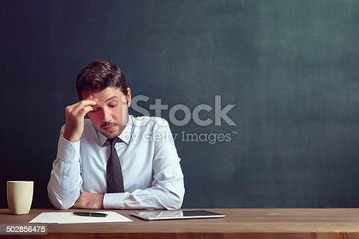 istock Depressed businessman 502856475