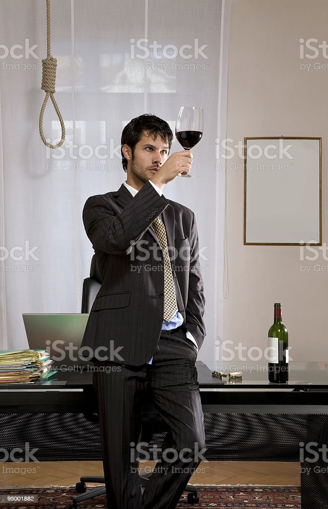 depressed businessman royalty-free stock photo