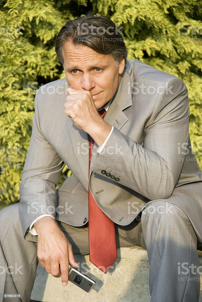 depressed businessman. royalty-free stock photo
