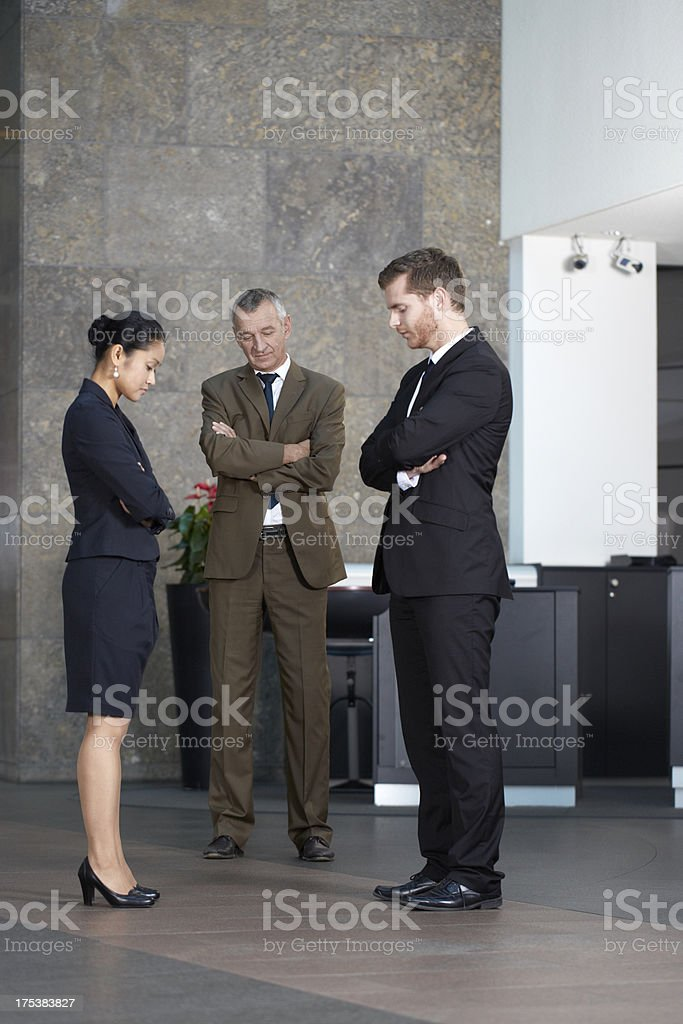 Depressed businesspeople royalty-free stock photo