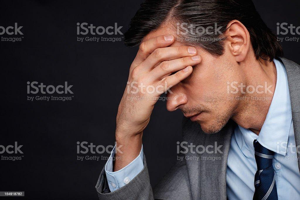 Depressed executive royalty-free stock photo
