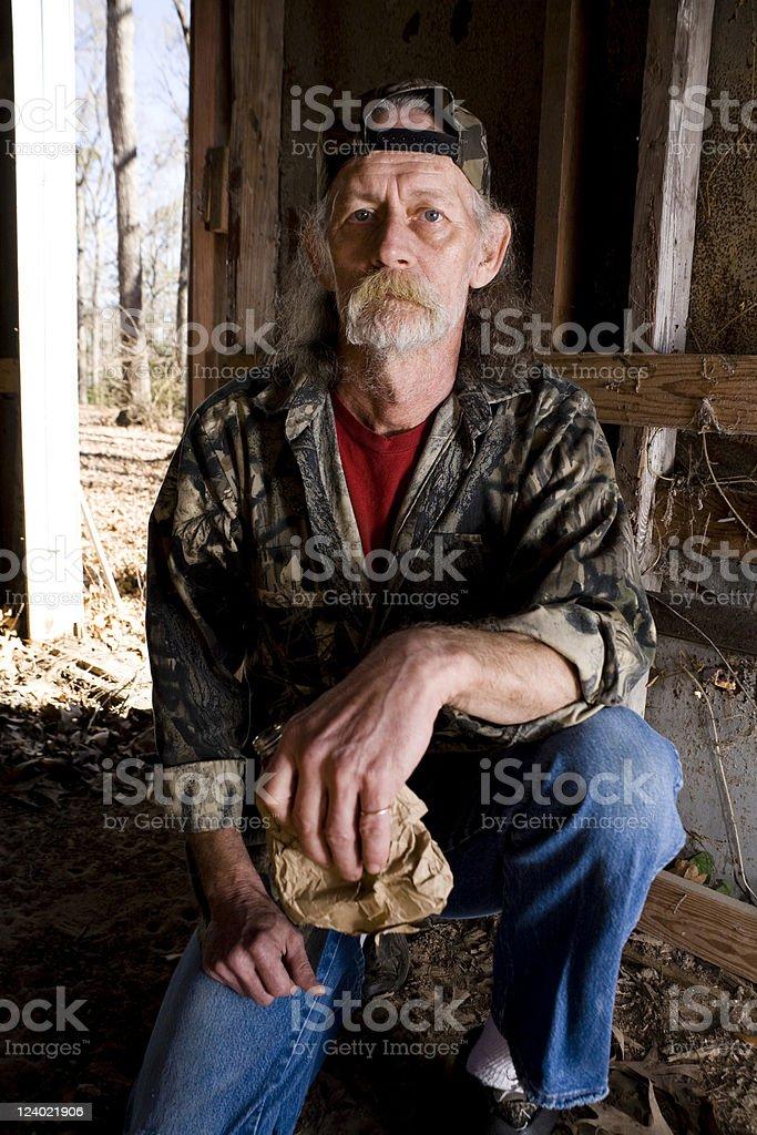 Depressed homeless stok fotoğrafı