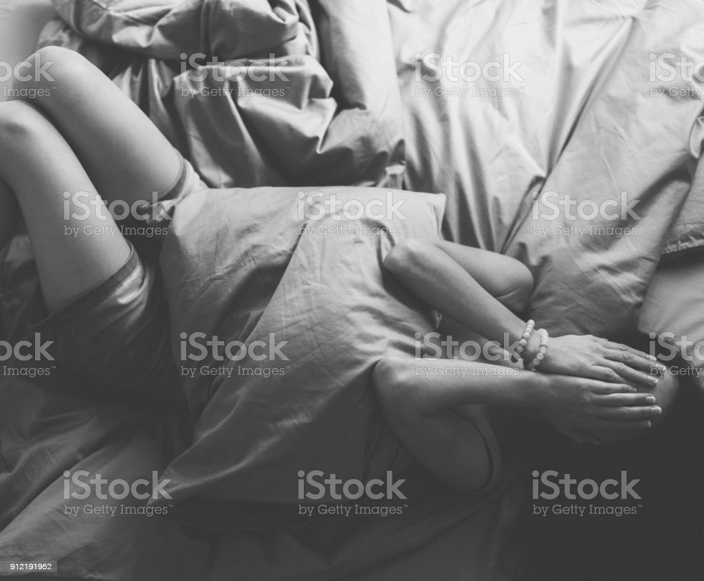 Depressed housewife at home royalty free stock photo