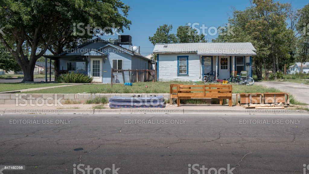 Depressed Housing in Hobbs, New Mexico stock photo
