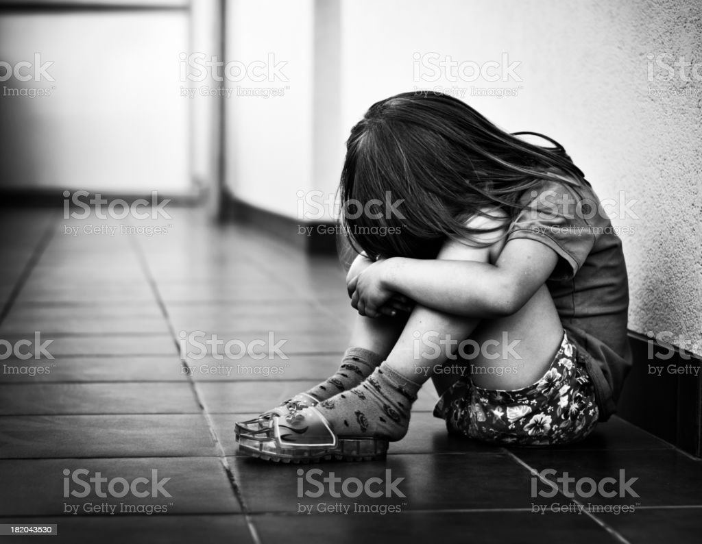 Depressed Kid stock photo