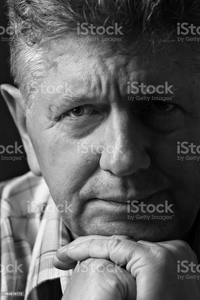 Depressed man close-up royalty-free stock photo