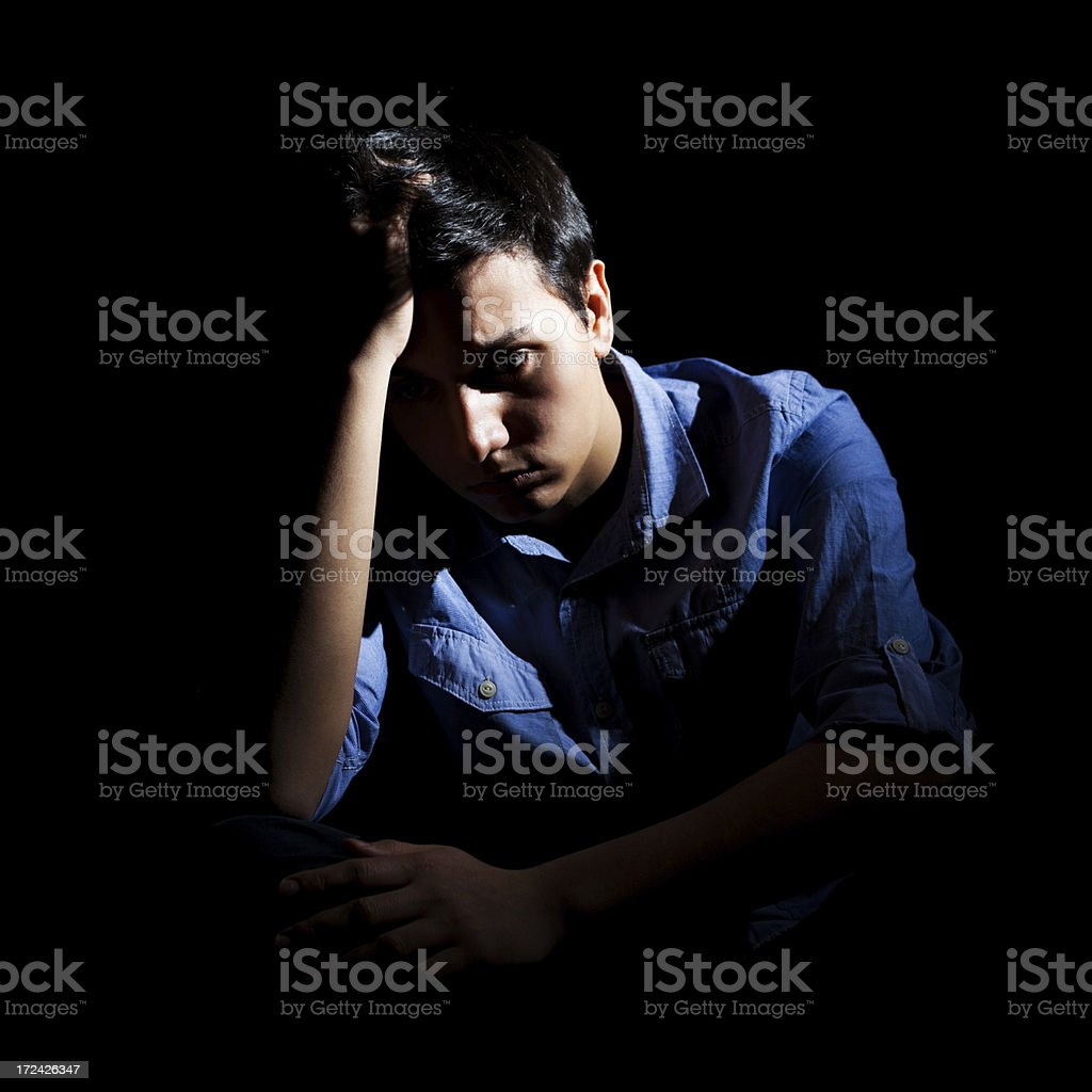 Depressed man royalty-free stock photo
